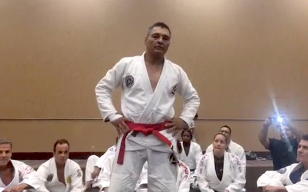 WATCH: Rickson Gracie Promoted to Red Belt - Aces Jiu Jitsu Club