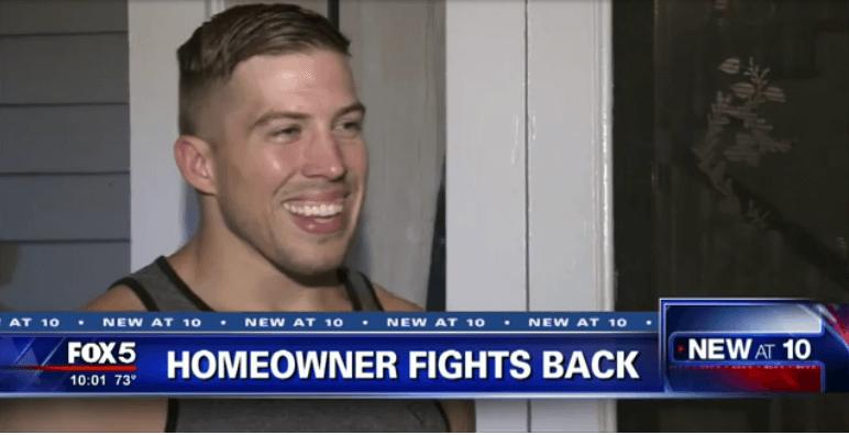 Home Owner Uses Jiu Jitsu to Pin Burglar Until Police Arrive