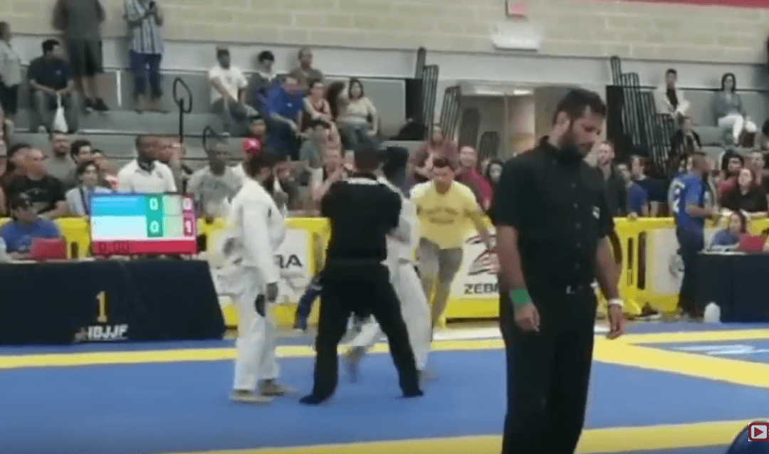 Gracie Barra Blackbelt & Owner Attacks Student's Opponent at 2018 IBJJF Austin Open